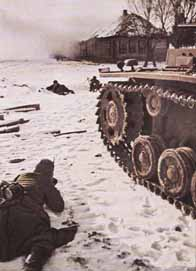 Un char allemand durant la bataille de Stalingrad