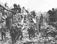 Après un bombardement allemand