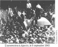 L'insurrection à Ajaccio le 9 septembre