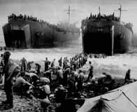 Débarquement massif de soldats