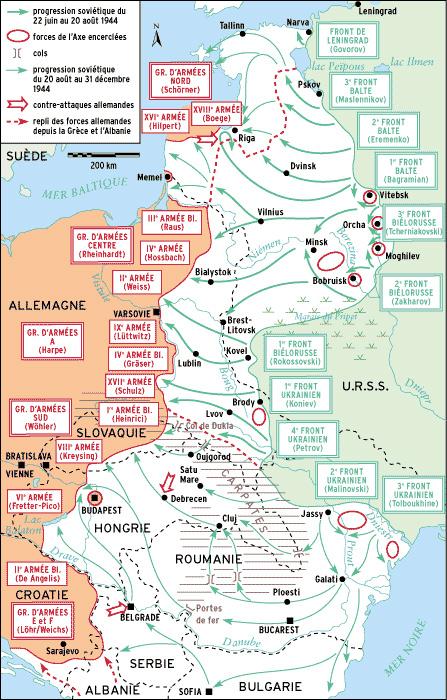 """Résultat de recherche d'images pour """"Carte : Le Front de l'Est le 6 juin 1944"""""""