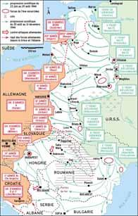 Carte de l'opération Bagration