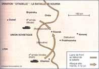 Carte de l'opération Zitadelle