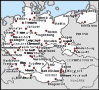 Carte des synagogues durant la Kristallnacht