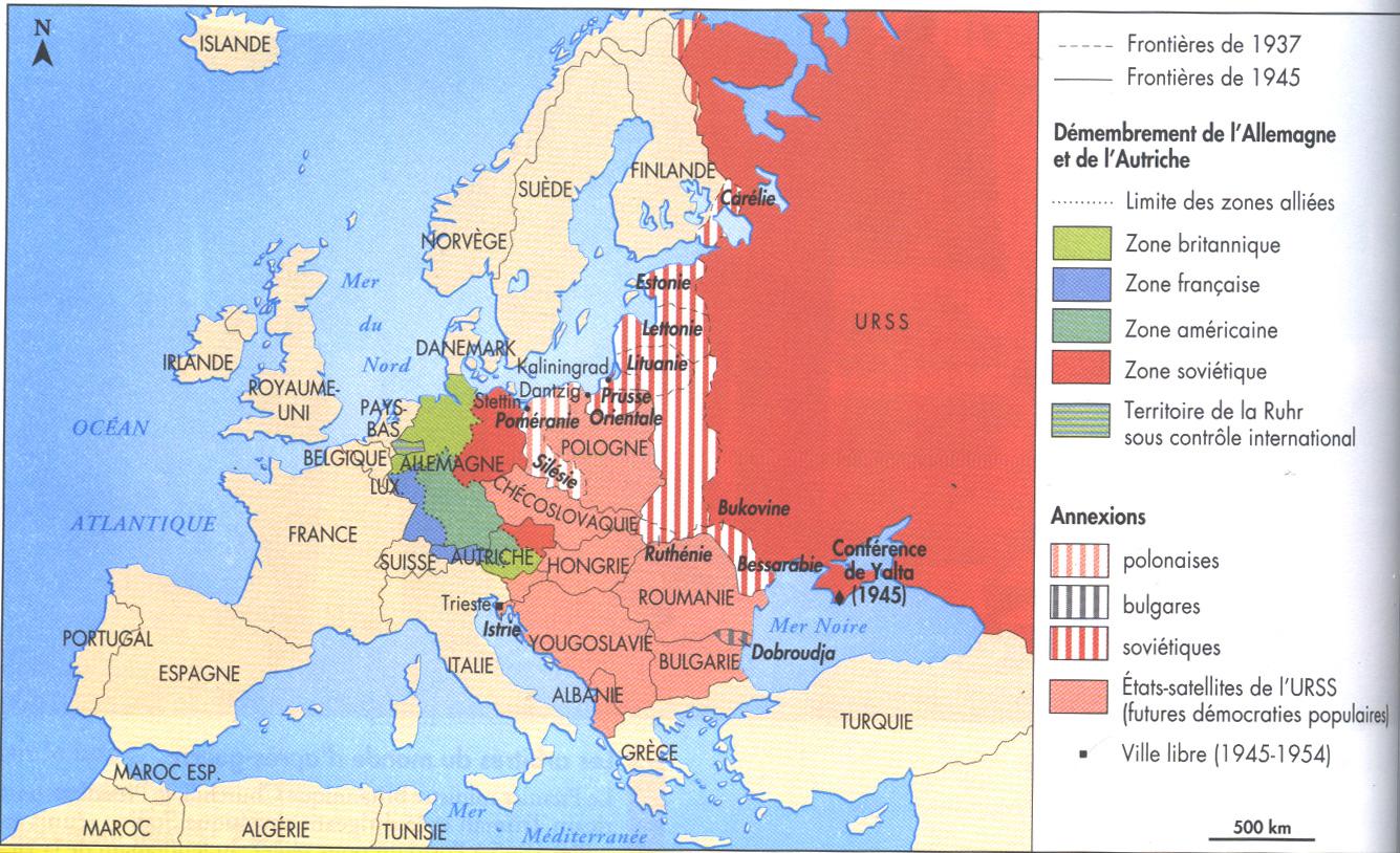 Carte Occupation Allemagne 1945.Extraits Des Accords Yalta Et Liste Des Points Principaux
