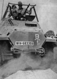 Un véhicule de l'Afrikakorps