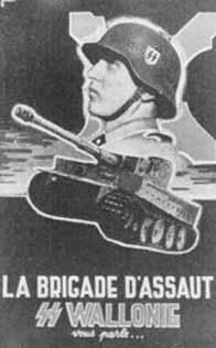 Affiche pour la brigade SS Wallonie