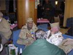 Vétérans du 506 à l'Hôtel Melba de Bastogne lors des célébrations du 60e