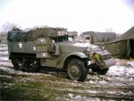 Un M3 Half-track lors du soixantenaire de la bataille des Ardennes