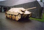 Un Jagdpanzer Hetzer à Bastogne