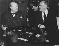 Churchill et Roosevelt à Casablanca