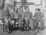 Les dirigeants alliés à Casablanca