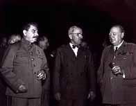 Staline, Truman et Churchill à Potsdam