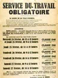 Affiche STO datant du début de l'occupation