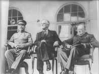 Staline, Roosevelt et Churchill à Téhéran