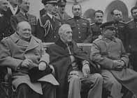 Churchill, Roosevelt et Staline à Yalta