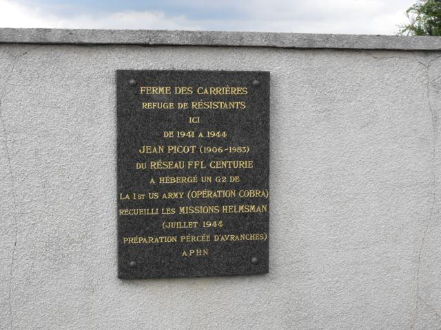 commemoration helmsman ferme des carrieres